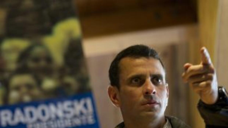 El candidato presidencial de la oposición venezolana, Henrique Capriles.