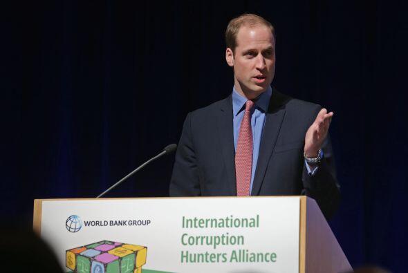 El duque de Cambridge fue uno de los oradores en la cumbre de la Alianza...
