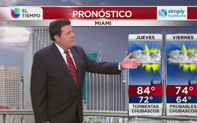 Se avecinan leves lluvias en Miami