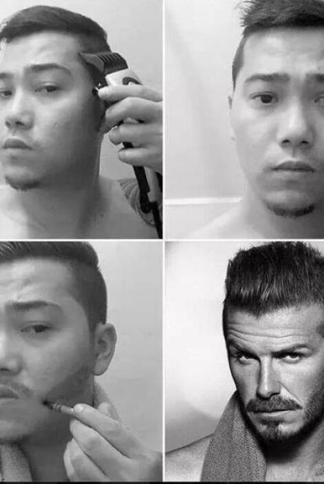 ¡Igualito a David Beckham!