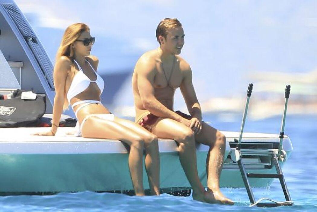 Tras el torneo mundial decidió disfrutar del sol y el mar.