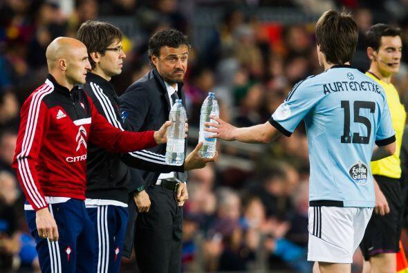 Luis Enrique, técnico del Celta, regresaba al Camp Nou, donde como jugad...