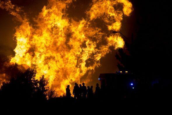 Entre los heridos más graves se encuentran personas con quemadura...