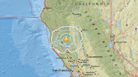 El epicentro se registró a 140 millas al norte de San Francisco.