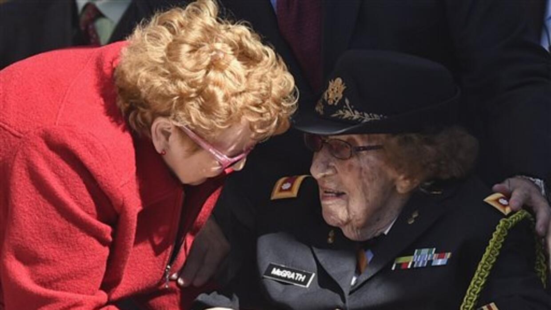 Luta C. McGrath, veterana de la Segunda Guerra Mundial.