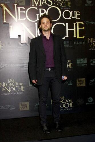 Christopher Uckermann también acudió al estreno.