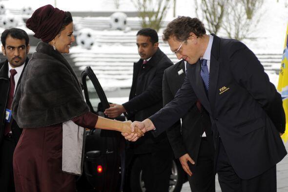 El secretario general de la FIFA, Jerome Valcke, saludó muy amablemente...
