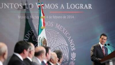 El presidente Enrique Peña Nieto anunció que el gobierno federal apoyará...