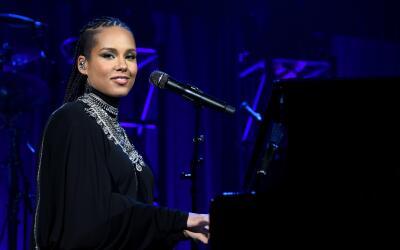 NEW YORK, NY - OCTOBER 20: Alicia Keys performs onstage at Angel Ball 20...