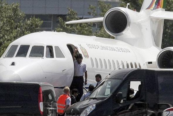 La retención de la aeronave con el mandatario a bordo gener&oacut...