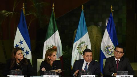 Los cancilleres de México, Guatemala, Honduras y El Salvador se h...