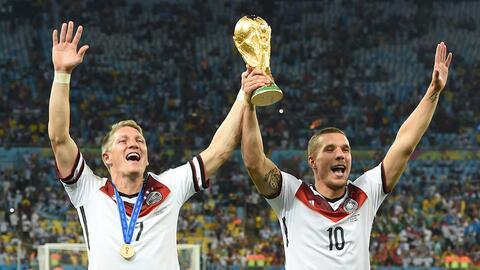 Schwinsteiger y Podolski, campeones del mundo que podrían llegar a la MLS.
