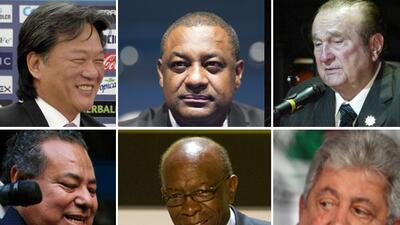 Eduardo Li,  Jeffrey Webb, Nicolás Leoz, Julio Rocha,Jack Warner, Rafael...