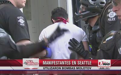 Manifestantes en Seattle utilizaron bombas molotov