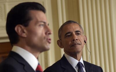 Obama destacó el papel de México controlando la frontera sur.