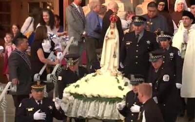 'Chicago en un Minuto': en una procesión los feligreses piden un alto a...