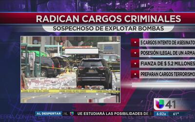 Esperan cargos federales contra el sospechoso de explotar bombas en NY y NJ