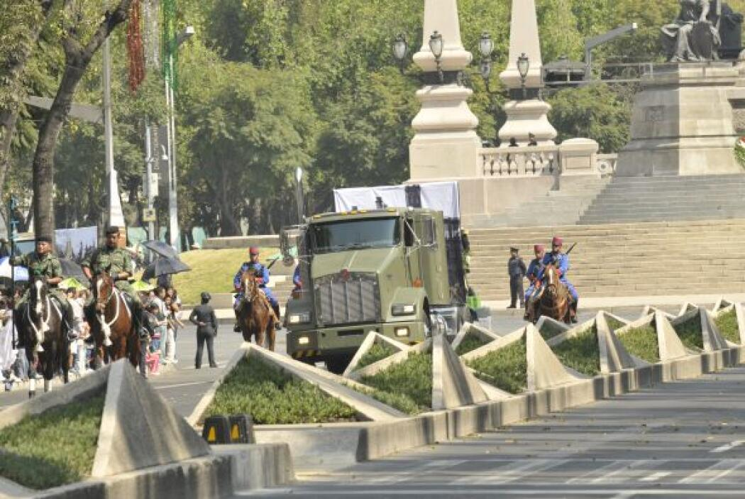 Y las Fuerzas Armadas, que tradicionalmente no participan en este desfil...