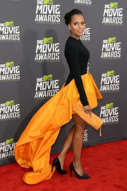 En los MTV Movie Awards hizo que todo mundo la volteara a ver con ese ve...