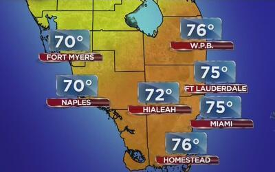Temperaturas agradables y poca probabilidad de lluvia este jueves en Miami