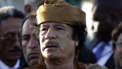 El coronel Muamar Gadafi enfenta una revuelta que desencadenó en guerra...