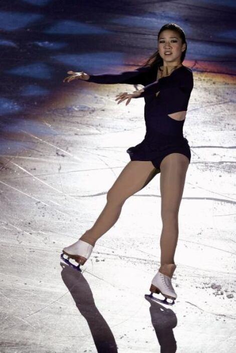 Michelle Kwan fuedos veces medalla de oro en Juegos Olímpicos de Invier...