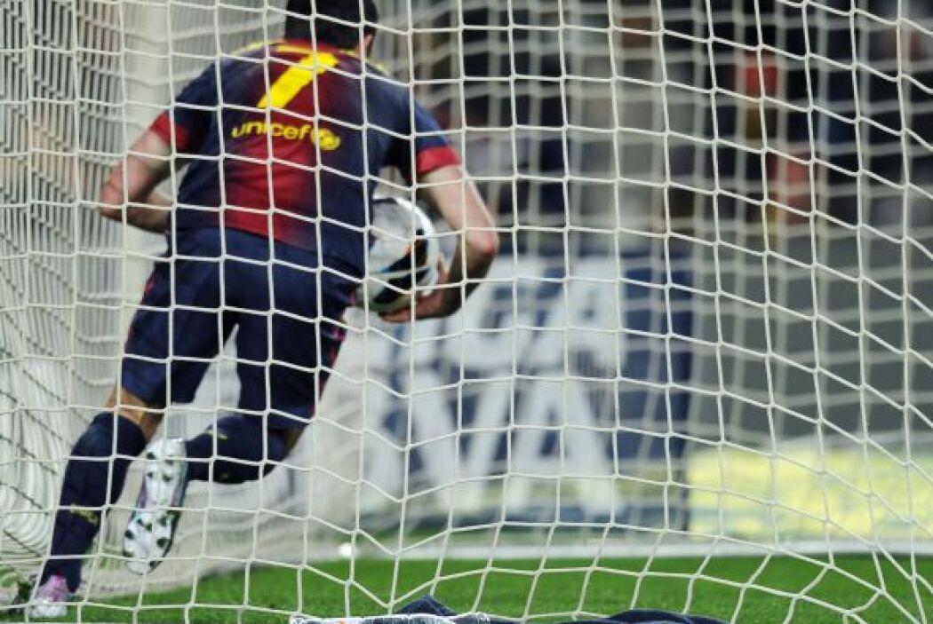 En el minuto 52 David Villa puso el gol del empate. El BArcelona apuraba...
