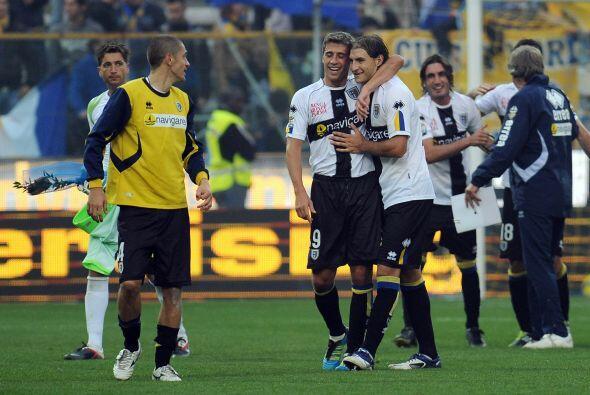 Valioso triunfo del parma por 2-0 sobre el Cesena.