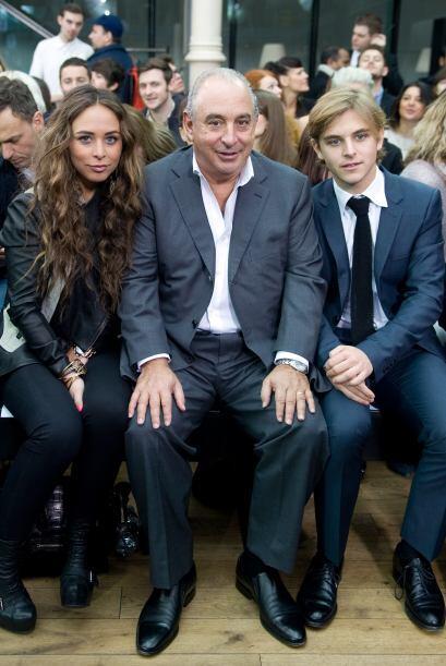 Aquí la vemos junto a su padre y su hermano, Brandon Green.
