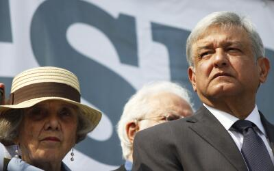 El excandidato presidencial Andrés Manuel López Obrador