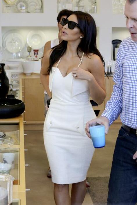 Aparentemente Kim estaba en busca de más cosas o para la boda o para su...