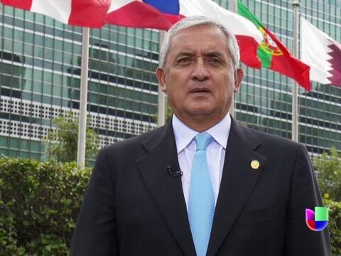 El presidente de Guatemala, Otto Pérez, concedió una entrevista a Univis...