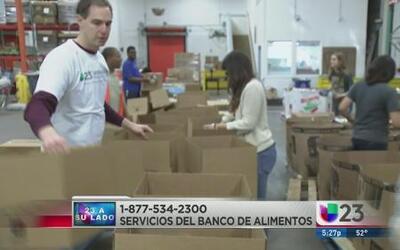 Univision ayudó al Banco de Alimentos