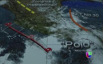 """La tormenta tropical """"Polo"""" amenaza el sur de México"""