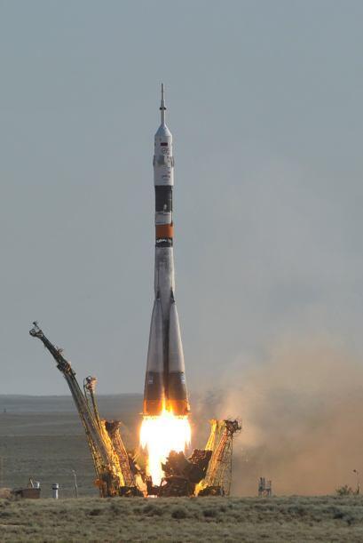 La nave fue impulsada por un cohete Soyuz FG.