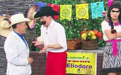 Don Pedro Rivera visitó los tacos de Don Eliodoro e hija