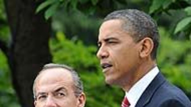 Obama y Calderón coincidieron en criticar la SB1070, durante la visita d...