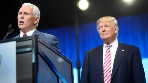 Donald Trump y Mike Pence aceleran el paso en su campaña