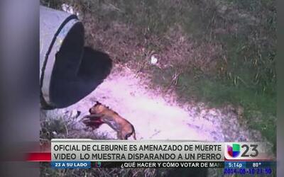 Policía mató a un perro y ahora lo amenazan