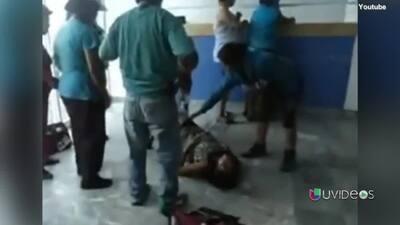 Video completo de mujer que dio a luz en recepción de hospital