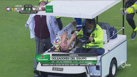 Paul Aguilar salió entre lagrimas del juego contra Veracruz