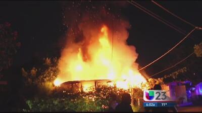 Se incendia su casa y sobrevive de milagro