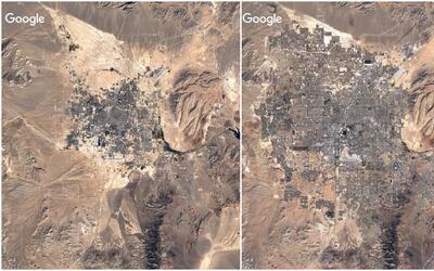 Imágenes satelitales muestran cómo han cambiado 5 ciudades de EEUU en tr...