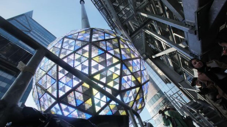 Times Square quedó lista para la gran fiesta de Año Nuevo.