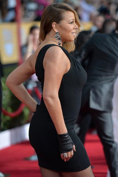 Pero Mariah se niega a dejar sus vestidos ajustados.Mira aquí los videos...
