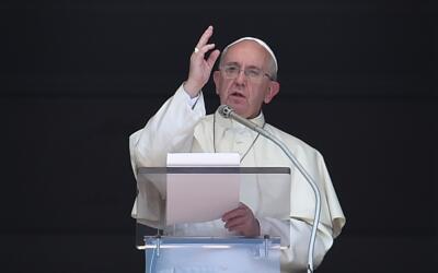 El papa Francisco durante el Ángelus.