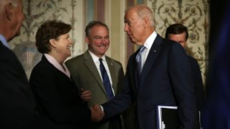 El vicepresidente estadounidense Joe Biden, quien estuvo en dos ocasione...