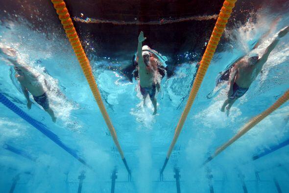 El estadounidense Ryan Lochte, uno de los favoritos y campeón del...