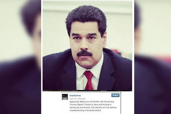La cantante Madonna acusó al presidente de Venezuela de desconoce...
