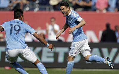 David Villa contento con el triunfo de NYCFC